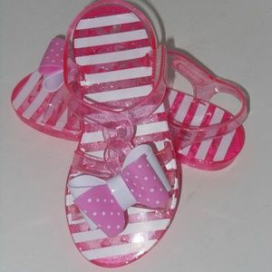 PINK AND WHITE TODDLER SANDALS SIZE 10